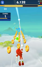 Sonic Dash 2: Sonic Boom Android Knuckles collecting rings.
