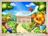 MapleStory Windows Title Screen and Log-in Screen.