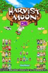 Harvest Moon DS Nintendo DS Title Screen.