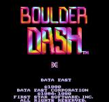Boulder Dash Arcade Title screen