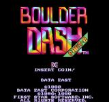 Boulder Dash Arcade Part-2 title screen, to access it press: A+Up, A+Down, Left, Right while the Player's List is on the screen
