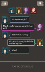 Highrise Heroes Android The characters chat a lot between levels.
