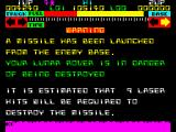 Lunar Jetman ZX Spectrum Too much time repairing the road and a missile is launched. The necessary number of hits required to destroy a missile will proportionally increase as the levels are completed.
