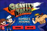 Disney Gravity Falls: Rumble's Revenge Browser Main menu