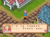 Harvest Moon 64 Nintendo 64 Giving Item to Popuri. (While she's happy)