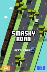 Smashy Road Android Main menu and start of the game