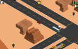 Smashy Road: Wanted Android Driving at a high speed.