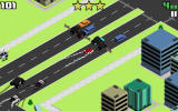 Smashy Road: Wanted Android A roadblock with large jeeps