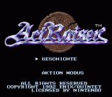 ActRaiser SNES Title screen (Germany)