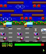 Frogger Evolution J2ME Getting run over at the highway