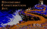 Stuart Smith's Adventure Construction Set DOS The main title screen