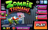 Zombie Tsunami Android Main menu