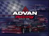 ADVAN Racing PlayStation Title screen.