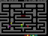 Pac-Man ZX Spectrum Passing the level. 2 keys, what an epiphany.