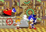 SegaSonic Popcorn Shop Arcade Sonic and Tails thank the player while their animal friends chase Eggman away.