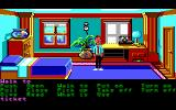 Zak McKracken and the Alien Mindbenders DOS Zak's bedroom -- lots of action, but not the kind he'd like! (Hi-res)
