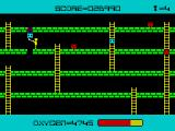 Panic ZX Spectrum Each time the player is unsuccessful killing an alien, it will transform itself into a stronger foe. The hanging blue one will transform itself into a white. (Mikro-Gen version)
