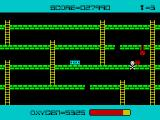 Panic ZX Spectrum I was trying to escape by jumping to the platform bellow. Trapped myself (Mikro-Gen version).