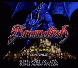 Brandish SNES Japanese title screen