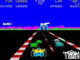 Pole Position ZX Spectrum A good screen starting the race (Erbe Software release).