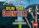 BIONICLE Mistika: Run the Gauntlet Browser Title screen.