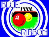 Pool ZX Spectrum Title screen: <i>Blue Ribbon release</i>.