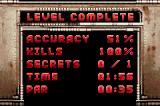 Duke Nukem Advance Game Boy Advance Level completion screen