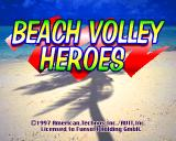 V-Ball: Beach Volley Heroes PlayStation Title screen.