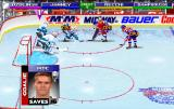 NHL Open Ice: 2 On 2 Challenge Arcade Before the face-off, goalie's stats for Artūrs Irbe