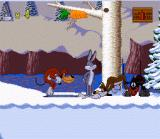 Bugs Bunny Rabbit Rampage SNES Set traps to explode your enemies