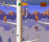 Bugs Bunny Rabbit Rampage SNES Climb trees with the chipmunks