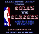 Bulls vs. Blazers and the NBA Playoffs SNES Title Screen