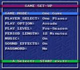 Bulls vs. Blazers and the NBA Playoffs SNES Main Menu