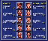 Bulls vs. Blazers and the NBA Playoffs SNES Player display