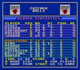 Bulls vs. Blazers and the NBA Playoffs SNES Player stats