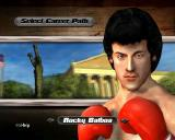 Rocky: Legends PlayStation 2 Playing in Career Mode<br>First the player names their boxer, then they select the difficulty. Finally they choose to follow the career path of Rocky, Apollo Creed, Clubber Lang or Drago