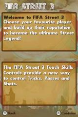 FIFA Street 3 Nintendo DS Welcome hints.