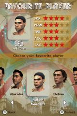 FIFA Street 3 Nintendo DS Select favorite player.