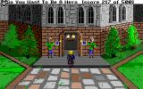 Hero's Quest: So You Want to Be a Hero Amiga At the courtyard in the castle.