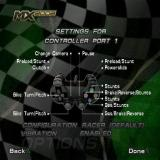MX 2002 featuring Ricky Carmichael PlayStation 2 The controller settings.
