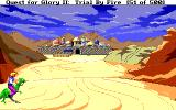 Quest for Glory II: Trial by Fire Amiga Overlook of the town