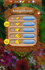 Blossom Blast Saga Android In-app purchases for additional gold (Dutch version)