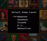 Clue SNES Difficulty select