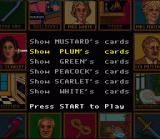 Clue SNES Check your cards