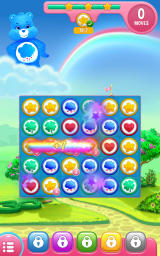 Care Bears: Belly Match Android A larger match creates a rainbow.