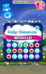 Care Bears: Belly Match Android With remaining moves Belly Bonanza is activated.