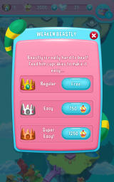 Care Bears: Belly Match Android You can lower the difficulty of boss levels.