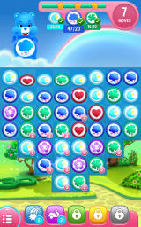 Care Bears: Belly Match Android Only a few moves left to create all required matches.
