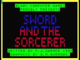 The Sword and the Sorcerer Dragon 32/64 Title screen