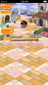 Pokémon Shuffle iPhone Caught it.